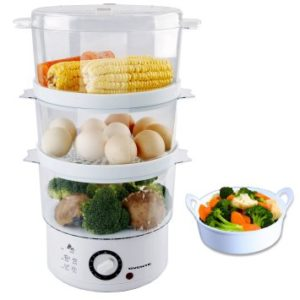 Ovente FS53W Electric Food Steamer