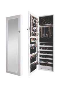 BTExpert Premium Wooden Wall Mount Jewelry Armoire Cabinet