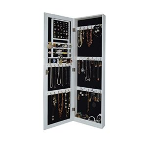 Organizedlife Locking Wall Mounted Jewelry Armoire