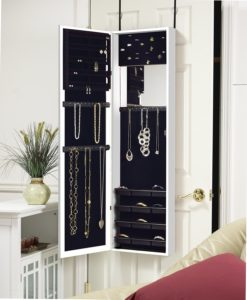Plaza Astoria Wall Mount Jewelry Armoire Cabinet